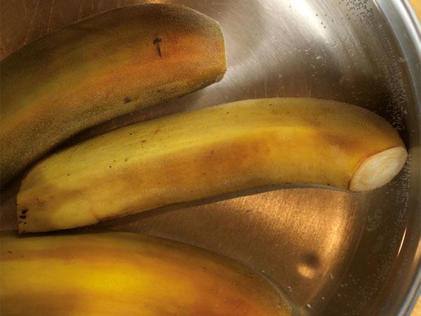 Plátano verde hervido