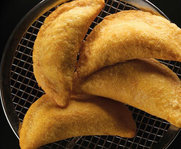 Empanadillas de morcilla y plátano